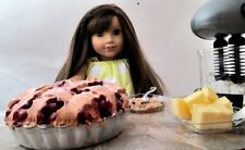 1/3 Scale Miniature Doll Food for American Girl Doll Handmade Cherry Pie