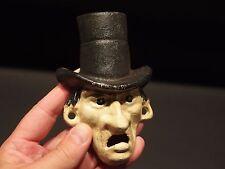 Antique Vintage Style Cast Iron Abe Lincoln Folk Art Figural Beer Bottle Opener