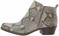 Lucky Brand Womens Basel Leather Almond Toe Ankle Fashion, Open Grey, Size 7.0 K
