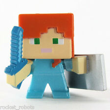 Minecraft Mini Figure Series 6 End Stone Series Loose Alex with Shield