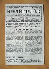 FULHAM - CRYSTAL PALACE v QUEENS PARK RANGERS QPR FA Cup Replay 1945/1946