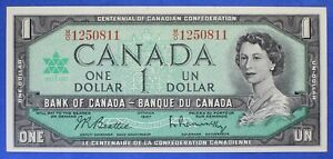 Canada 1967 - $ 1 - BC-45b  - Beattie-Raminsky - Prefix M/O