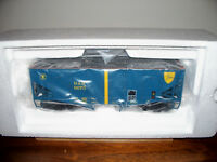 MTH TRAIN #20-97303 DELAWARE & HUDSON TWO-BAY HOPPER CAR WITH COAL LOAD