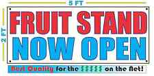 Fruit Stand Now Open Banner Sign New Larger Size Best Quality for the $