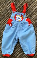 Unbranded VINTAGE 6-9 mo baseball theme cotton overall style romper bubble pant