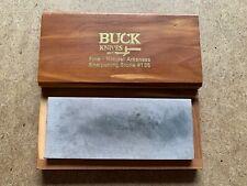 RARE VINTAGE BUCK KNIVES FINE NATURAL ARKANSAS SHARPENING STONE #135
