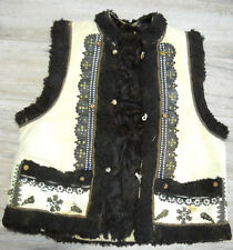 Antique Hutsul Sheepskin Vest KEPTAR 19thC Pechenizhyn size~M Good condition