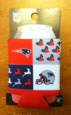 "New England PATRIOTS Neoprene Can Sleeve  5.5"" x 3.75"" with Zipper NFL NWT NEW"