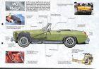 MG Midget Sprite Cabriolet Mk IV United Kingdom UK 1961 Car Auto FICHE FRANCE