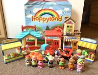 ELC Happyland Playset Bundle With Fold Out Storage Box Playmat Lot 1