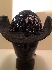 """Western Cowgirl """"Whittall & Shon"""" Black With Zebra! Crystals! Beads! Stunning!"""