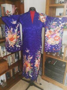 Japanese silk women's kimono