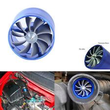 Car Supercharger Turbo Fuel Saver Fan with Single Propeller Blue Stainless Steel