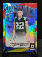 Christian McCaffrey 2017 Donruss Optic Red and Yellow Rated Rookie Prizm #168 🔥