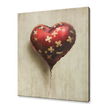Banksy Heart Balloon Graffiti canvas print picture wall art free fast delivery