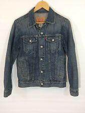 Levis Denim Trucker Jacket Red Tab 57511 Size Large 36 Chest Medium Blue Wash