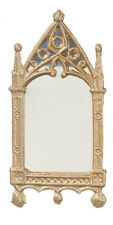 Cathedral Mirror Frame Finished in Gold, Dolls House Home Decor, Miniature