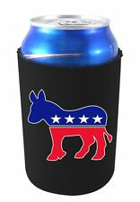 Democratic Party Donkey Logo Neoprene Collapsible Can Coolie, DNC