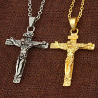 1PC Easter Jesus Christ Crucifix Pendant Necklace Cross Choker Jewelry Unisex