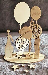 A4 Retirement Wooden 3D Design Card Pop Up Keepsake Fun Gift Any Age Work Parent