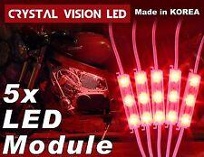 Crysta Vision LED for Motorcycle Light Strips Kit Engine-Bay Bright Red DC12V