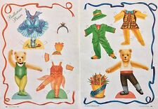 Ballerina Teddy Bears Paper Dolls, 1995, By Nancy Hoffman, Mag. PD