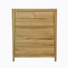 NEW Vogue Solid Oak 6 Draw Tallboy/Chest
