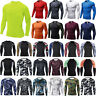Men Long Sleeve Compression Under Base Layer Sport Gym Fitness Armour Skin Tops