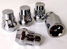 Set of 4 x alloy wheel Locking Locks nuts bolts lugs. M12 x 1.5, 21mm Hex, Taper