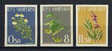 Albania 1962 Sc#613-15  Medicinal Plants  MNH Imperf Set  $30.00