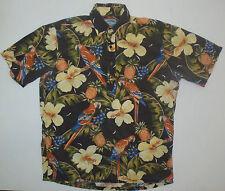 Joe Kealoha's by Reyn Spooner Mens S Hawaiian Pullover Macaws SS Shirt