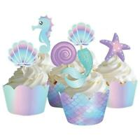 12 Mermaids Birthday Party Capri Sun Stickers Baby Shower Under The Sea Seahorse