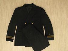 US Navy Black Officer Winter Dress Uniform Men's 40 R (Est.) Jacket 30x29 Pant