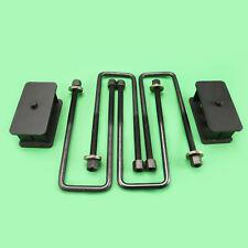 """1999-2007 GMC Sierra Chevy Silverado 1500 4WD Steel Rear 3"""" Lift Kit UBolt+Block"""