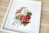 New Modern Counted Cross Stitch Hand Embroidery Kit B2355 Peony (Luca-S)