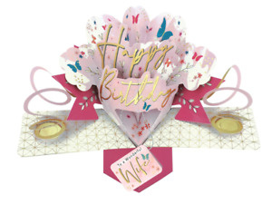 Wonderful Wife Happy Birthday Pop-Up Greeting Card Second Nature Pop Up Cards