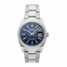 Rolex Datejust Auto 36mm Steel White Gold Mens Oyster Bracelet Watch 126234