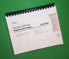 """Canon SX60 HS Power Shot Camera 203 Page LASER 8.5 X 11"""" Owners Manual Guide"""