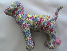 NWT stuffed dog puppy toy Love Pink multi-color floral animal Victoria's Secret