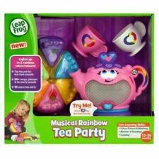 Leap Frog Musical Rainbow Tea Party Tea Set Kids Pretend Play 10pc Playset NEW