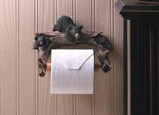 BLACK BEAR TOILET PAPER HOLDER