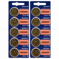 10 New Sony CR2025 2025 DL2025 3V Coin Battery EXP 2028 Fresh New - USA Seller