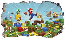 Super Mario Wall Crack Self Adhesive Sticker Vinyl Decal Print Poster Graphic