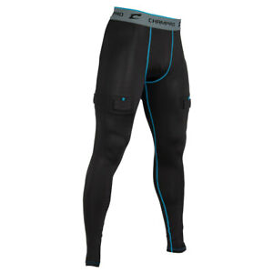 """Champro """"Blade"""" ADULT MEN'S Compression Hockey Jock PANTS with Cup & Sock Tabs"""