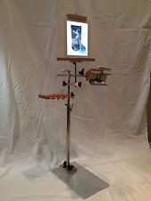 STAINLESS STEEL NEEDLEWORK FLOOR STAND WITH TABLET HOLDER!