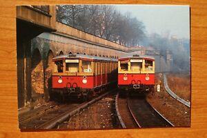 E4) Eisenbahn Zug 1986 Berlin S Bahn elektrisch Zugkreuzung Bahnhof 275 257