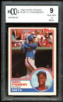 1983 Topps Traded #108T Darryl Strawberry Rookie Card BGS BCCG 9 Near Mint+