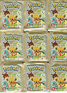 Pokemon Stickers Series 3 2001 Merlin Topps 11 Sealed Packs - 66 Stickers Total