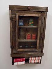 Reclaimed Rustic medicine Cabinet  ...door choice  mesh, glass, mirror