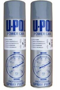 2 x UPOL Etch Primer Grey Spray Aerosol 500ml Power Can Professional Paint 2Pack
